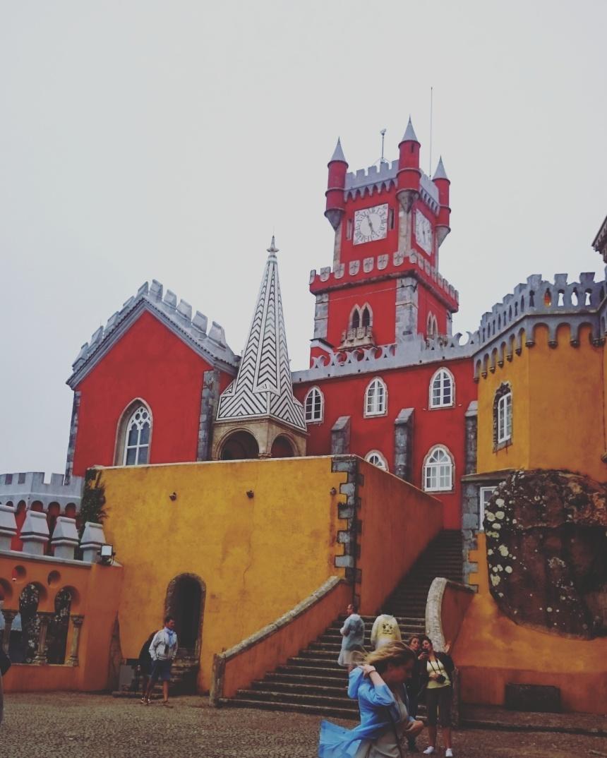 palacio pena castle palace sintra park tourism travel explore mountain viewpoint